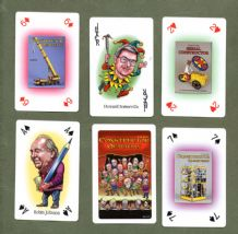 Collectible playing cards Constructor Quarterly for Meccano hobby